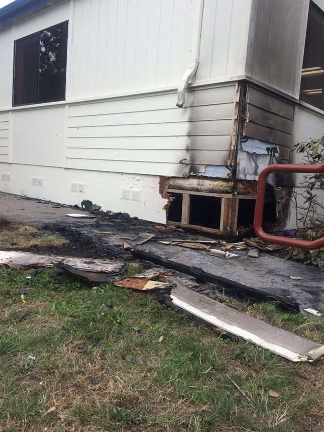 $500 reward for info on arson fire at Eugene school