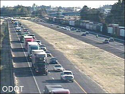 Two crashes slow I-5 traffic near Albany Sunday evening