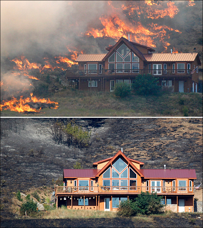 A few small actions can help save your home from wildfire damage