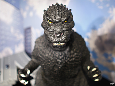 1954 Godzilla stomps back in ultra HD, wires intact