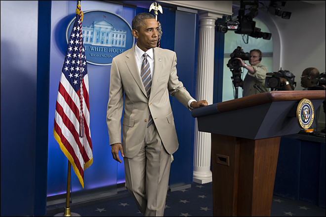 APTOPIX Obama-Tan Suit