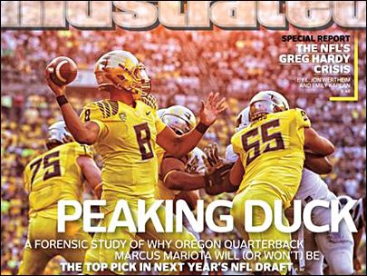 Oregon QB Marcus Mariota makes 3rd Sports Illustrated cover