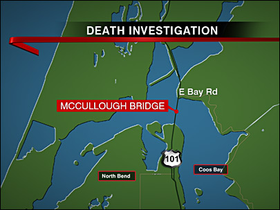 Man's body found in Coos Bay under McCullough Bridge, Hwy 101 closed