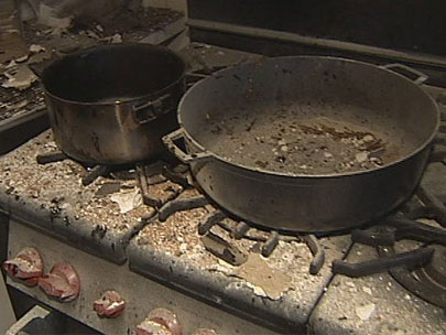 'It looked like someone was cooking fire in a pot'