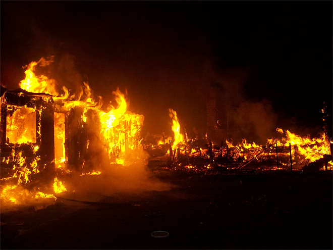 Fire Destroys Homes Small Oregon Town Local