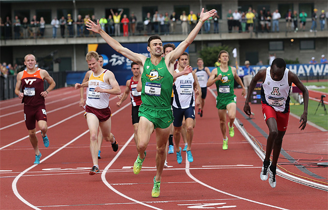 Fleet, Allen push Oregon men to team title in NCAA Championships