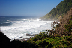Cape Perpetua on the Oregon coast.
