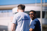 Russell Wilson and Joel Mchale pull a 737