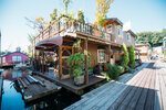 Photos: Inside a 2-story houseboat