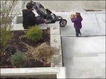 Surveillance video shows man using toddler to steal for him