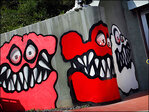 Chris Brown's scary curbside art irks neighbors