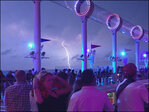 Intense thunderstorm upstages cruise ship entertainment