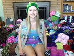 Teen makes hats for cancer patients, mom makes case for Girl Scouts