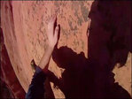 Camera captures climber as he loses grip and falls