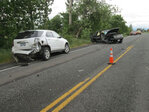 2 injured in 4-car crash on Hwy 20 near Albany