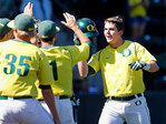 Ducks a win away from college baseball Super Regionals
