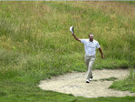 Shawn Stefani aces hole 17 at US Open