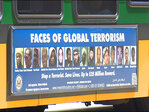 'Faces of Global Terrorism' bus ads being pulled