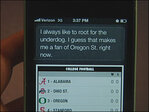 Siri roots for OSU: 'Oregon has Nike, but now we have Apple'