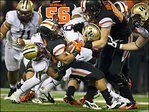 Beavers dejected after 69-27 loss to Huskies