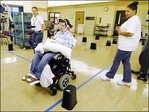 Tongue device lets the paralyzed drive wheelchairs