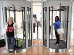 Glass exit portals: Security to leave the airport