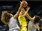 Oregon women push past Portland State, 113-78