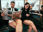 Bucharest metro officials vow to fight 'no pants' stunt