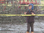 Ice-storm damage, flooding at playground in city park