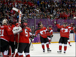 Canada defends men's hockey gold medal with 3-0 win over Sweden