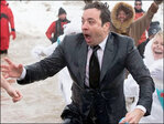 Jimmy Fallon, Chicago mayor take polar plunge