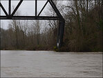 Old Trolley Bridge on Clackamas River slowly collapsing