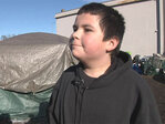 Local boy supports homeless by walking to the state capital