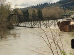 Trolley bridge dragged out, Clackamas River open to boaters