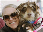 Dogs 'muttbomb' celebrities to boost adoptions