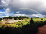 Photos: Rain, hail, sun, a double rainbow - welcome to spring in the NW