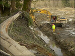 First steps toward re-opening highway blocked by mudslide