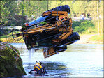 Crew hoists 8-ton backhoe from S. Santiam River
