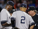 Yanks pitcher Pineda ejected for substance on neck