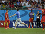 Man runs onto field during US-Belgium match