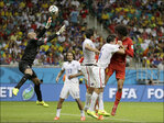 Photos: US goalie Howard impresses with big saves against Belgium