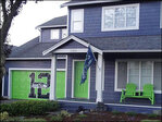 Woman transforms home into 12th Man house