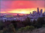 Photos: Incredible sunset graces Seattle Sunday night