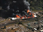 Springfield wood products plant erupts in flames