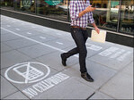 National Geographic puts 'fast and slow lanes' on DC sidewalk