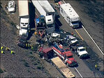 I-90 closed eastbound near Vantage after 24-car pileup