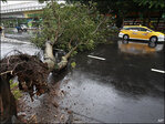 Typhoon rains hit China; plane crashes in Taiwan