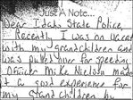 Granny caught speeding writes thank you note to trooper