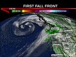 Wet weather returns for the first days of fall