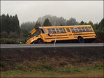 No students hurt after bus crashes near Pleasant Hill